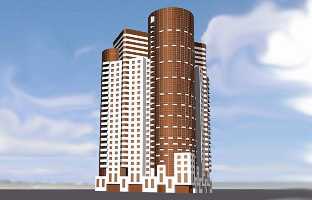 33-этажное жилое здание на 353 квартиры